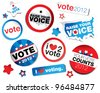 Vote 2012 Sticker Collection - stock vector