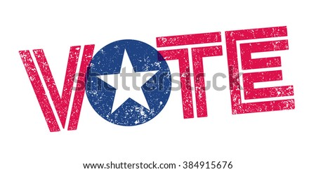 Vote USA Stamp - stock vector