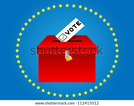 voting box - stock vector