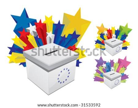 Voting Box 2 - stock vector