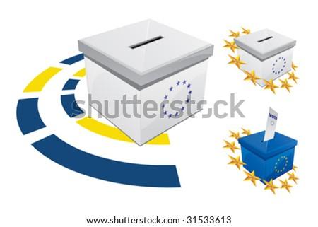 Voting Box 9 - stock vector