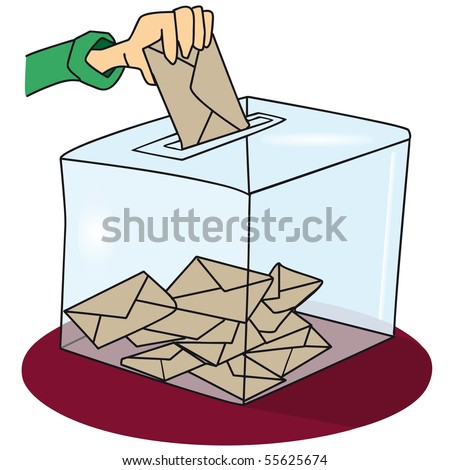 voting box. A ballot box  - stock vector