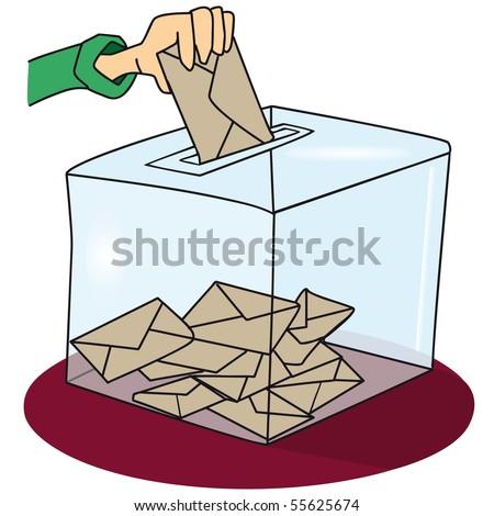 voting box. A ballot box  - stock vector