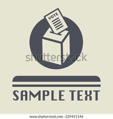 Voting box icon or sign, vector illustration - stock vector