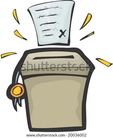 Voting Character : vector illustration - stock vector