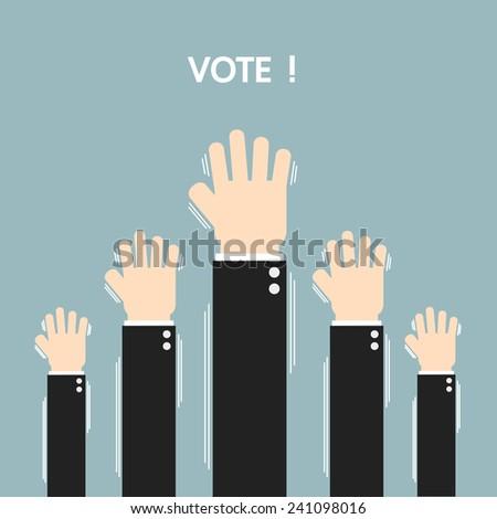 Voting elections, flat design, vector - stock vector
