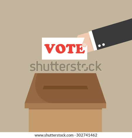 Voting in flat style - stock vector