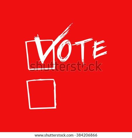 Voting Symbols - stock vector