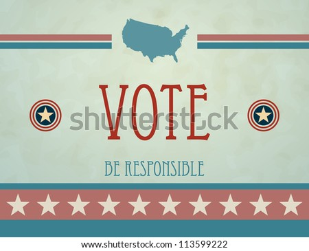 Voting Symbols vector design - stock vector