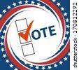 Voting Symbols vector design presidential election - stock