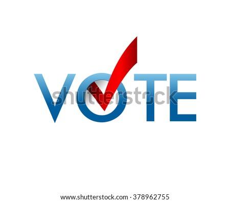 Voting Symbols Vector Design Template Elections Stock Vector
