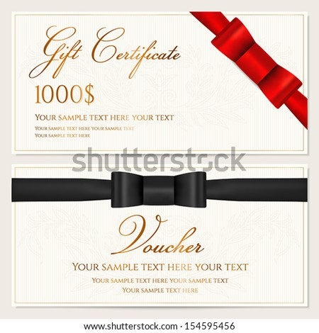 Gift Certificate Template Stock Images RoyaltyFree Images