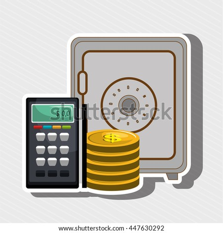 voucher machine  isolated icon design, vector illustration  graphic