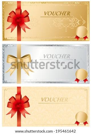 voucher Vector - stock vector