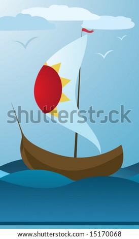 voyage - stock vector