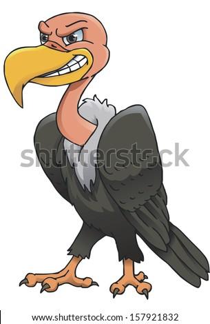Vulture cartoon - stock vector