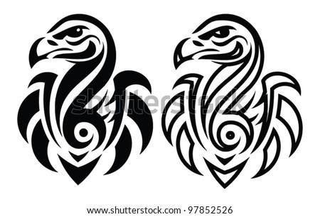 vulture tattoo stock images royalty free images vectors shutterstock. Black Bedroom Furniture Sets. Home Design Ideas