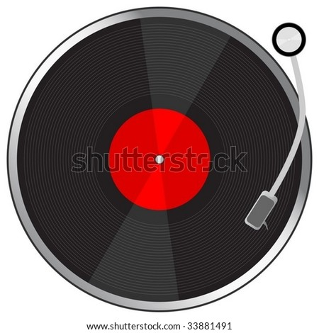 Vynil plate. To see more please visit my gallery - stock vector