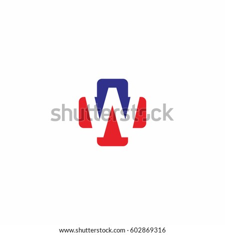 W Letter Cross Medical vector logo, medical logo icon
