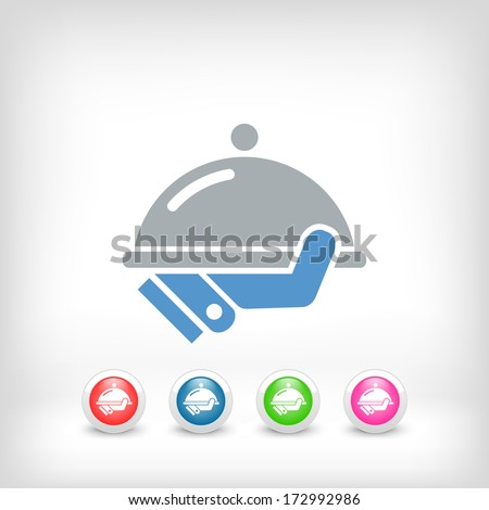 Waiter icon - stock vector