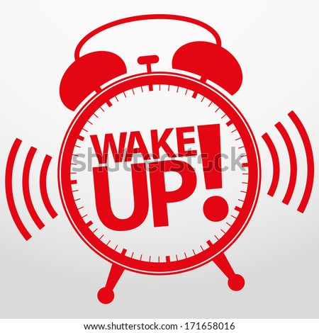 Wake up alarm clock icon, vector illustration  - stock vector
