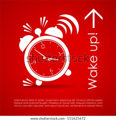 Wake up vector poster - stock vector