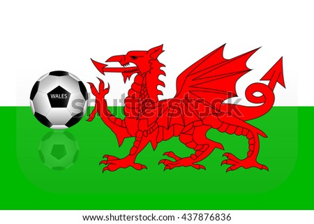 Wales flag - stock vector