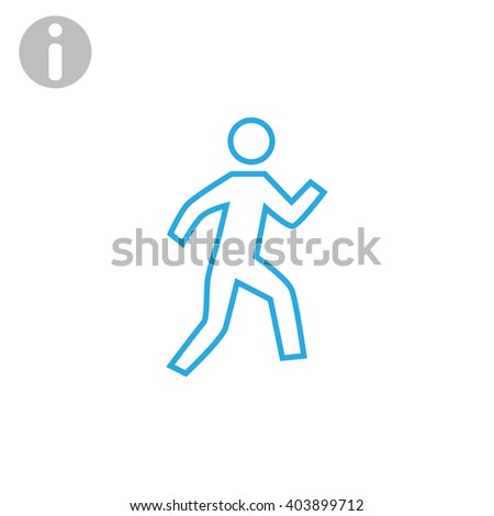 Walk Icon. Walk Icon Vector. Walk Icon JPEG. Walk Icon Object. W - stock vector