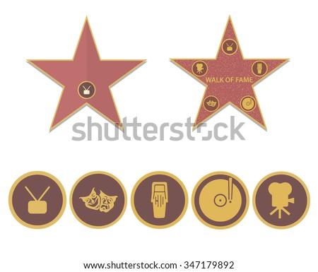 Walk of fame stars - stock vector