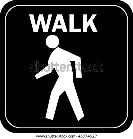 Walk sign - stock vector