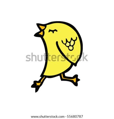 walking bird cartoon - stock vector