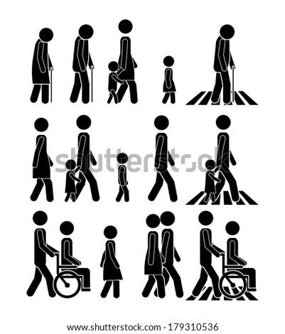 walking design over white background vector illustration - stock vector