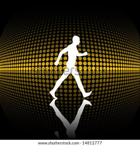 Walking vector silhouette - stock vector