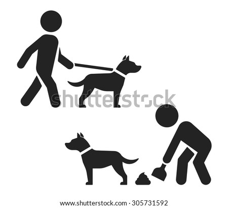 Walking with dog // Clean after your dog