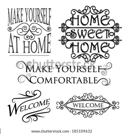 Wall art decoration messages