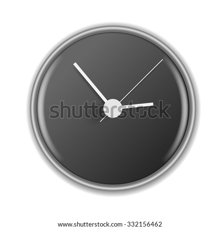 Wall clock. Vector illustration - stock vector