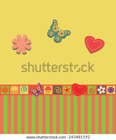 Wall Decoration Design Children Stock Vector 243481192 - Shutterstock