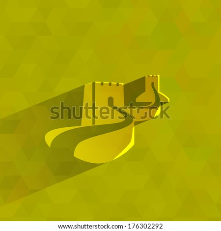Wall of China. Vector format - stock vector
