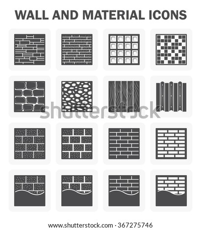 Wall pattern and material vector icon sets design. - stock vector