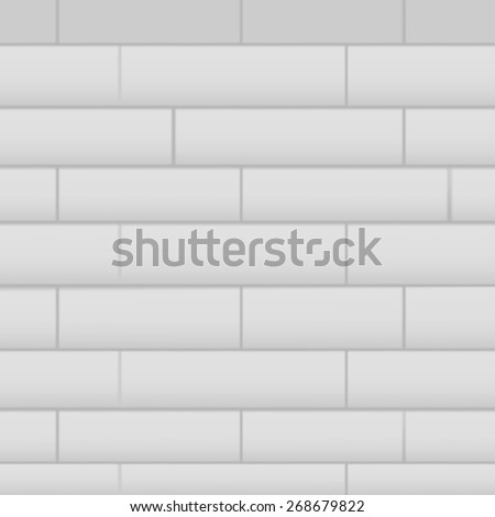 Wall with masonry, vector background for your presentation. - stock vector