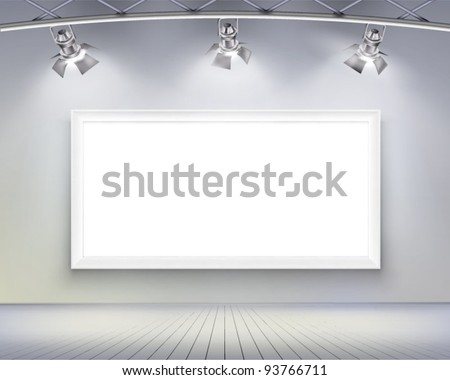 Wall with picture.  Vector illustration. - stock vector
