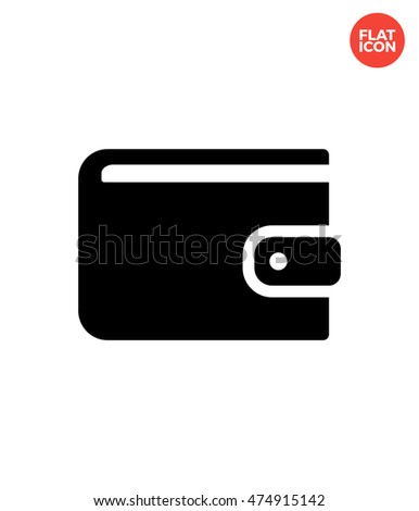 Wallet Icon Flat Style Isolated Vector Illustration