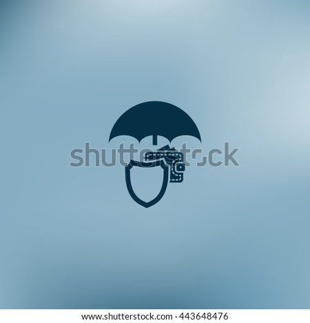 Wallet Protection Icon. Flat design style stock vector illustration - stock vector