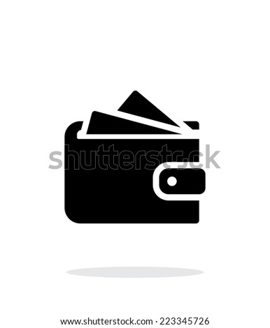 Wallet with cards simple icon on white background. Vector illustration. - stock vector