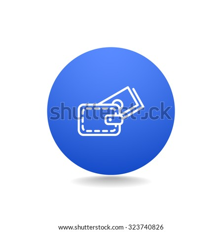wallet with credit card - vector - stock vector