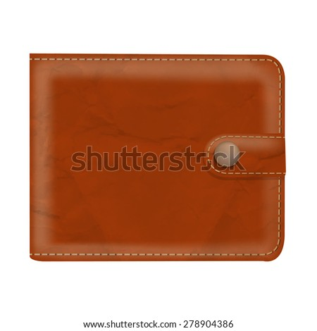 Wallet With Gradient Mesh, Vector Illustration
