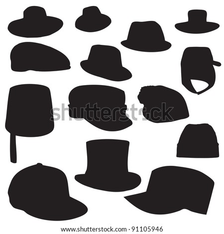 Wallets collection silhouette vector illustration - stock vector
