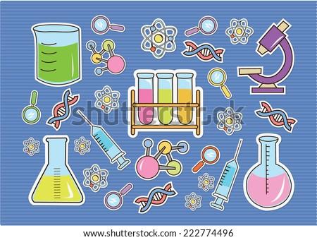 Wallpaper Doodle Bio Technology - stock vector