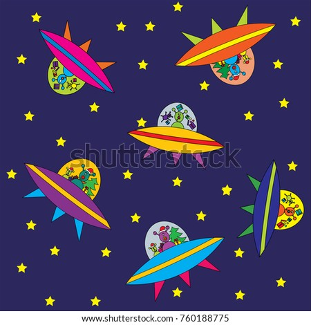 Wallpaper For Children Aliens In Space