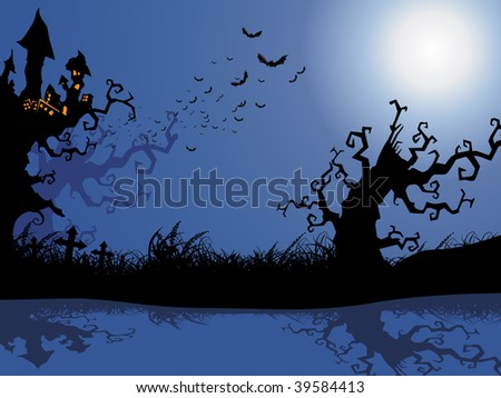 wallpaper for halloween celebration, vector illustration